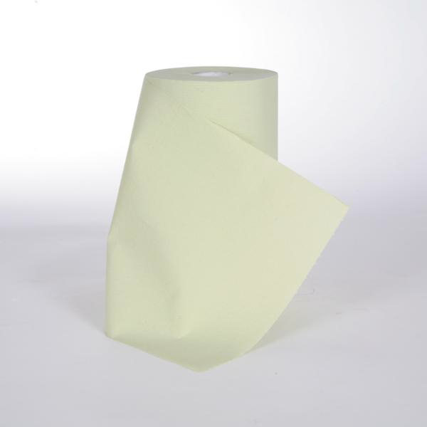 Papierhandtücher Putztuchrolle Außenabrollung 2-lagig, Zellstoff grün perforiert 184 Blatt/Rolle   10 Rollen    passend für Tork Vario Box