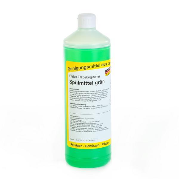 Erstes Erzgebirgisches Spülmittel grün | 1 Liter  | mildes und neutrales Handspül- und Reinigungsmittel