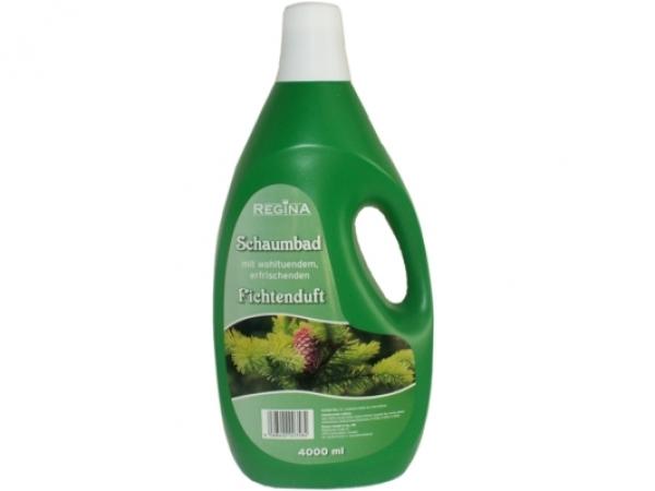 Badezusatz: Schaumbad Fichtenduft | 4 Liter  | Griffflasche, wohltuend, erfrischend