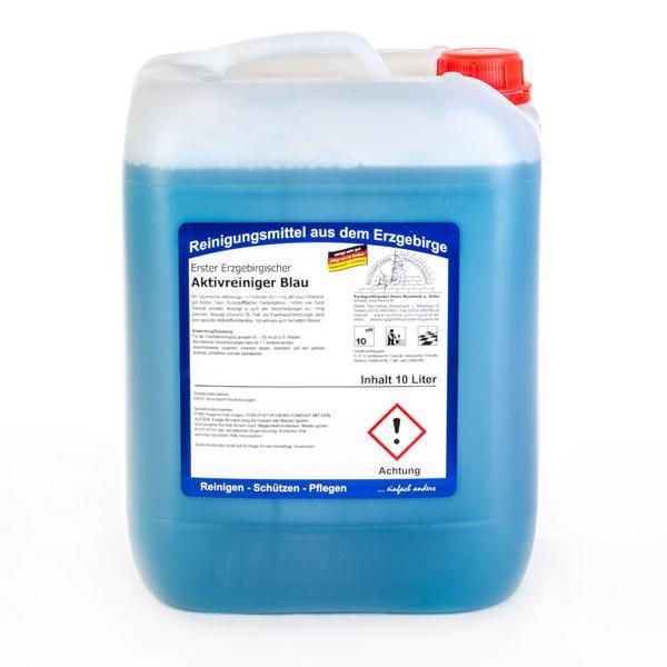 Erster Erzgebirgischer Aktivreiniger Blau | 10 Liter  | Salmiak verstärkter, hygienischer Aktivreiniger zur laufenden Reinigung wasserbeständiger Böden