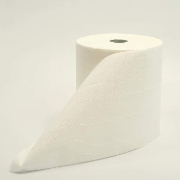 Papierhandtücher Rollenhandtücher Außenabrollung 2-lagig, Recycling weiß, 130 m   6 Rollen   passend für Spender: 70220 und Spezialspender