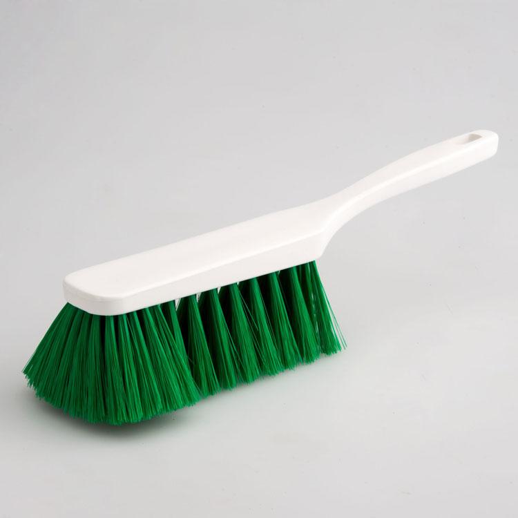 Hygiene - Handfeger 28 cm Borsten grün  | Körper: Kunststoff weiß, Borsten: Polyester PBT 0,25 grün