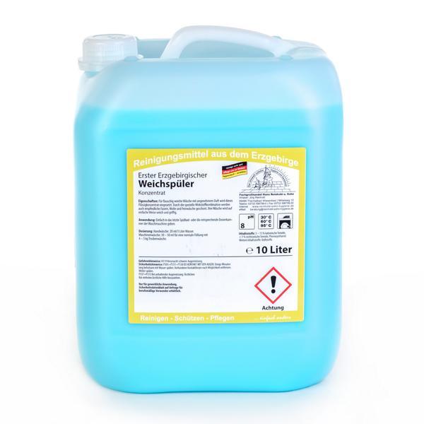 Erster Erzgebirgischer Weichspüler | 10 Liter  | Weichspülpflege für die gesamte Wäsche, mit frischem Duft