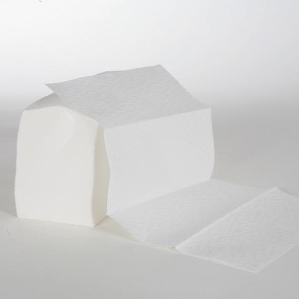 Papierhandtücher 3-lagig, 21,5 cm x 36,0 cm, Interfold, 100% Zellstoff weiß, 18 x 100 Tücher | 1.800 Blatt/Karton
