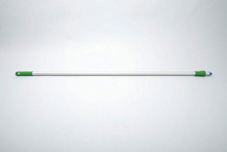 Hygiene - Aluminiumstiel, Standart 1,50 m, Ø 25 mm | grün  | für System Außengewinde mit Innensechskant