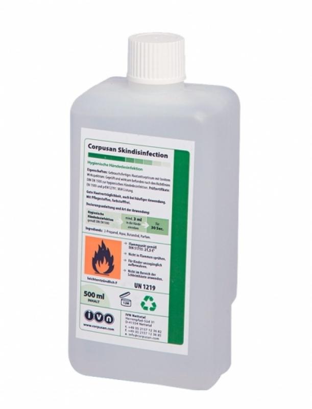 IVN Corpusan Skindisinfection | 500 ml | alkoholische Händedesinfektion, VAH-Listung