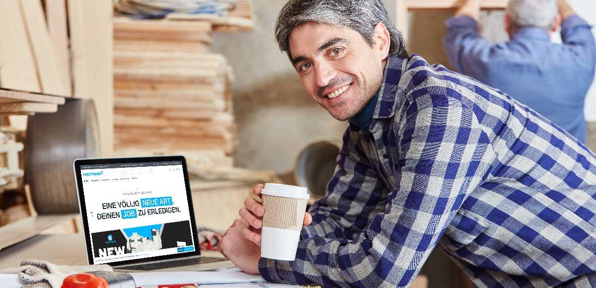 Handwerker bestellt im HEITARA® Online Store