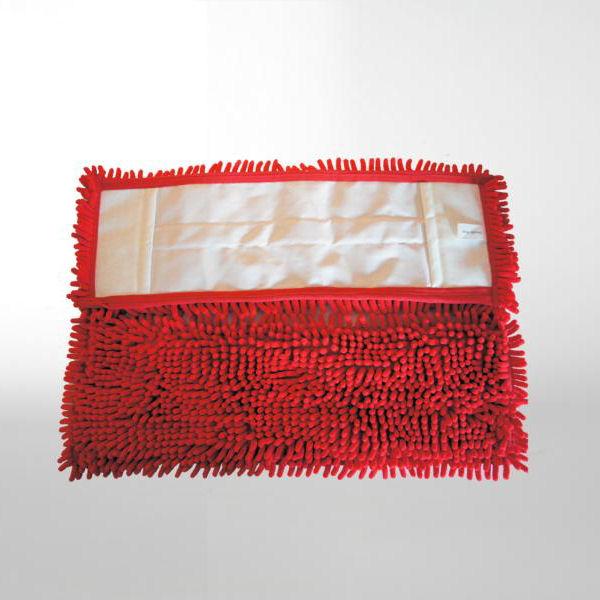 Chenille-Mopp 50 cm | Farbe: rot  | Material: Mikrofaser, Aufnahme: Tasche
