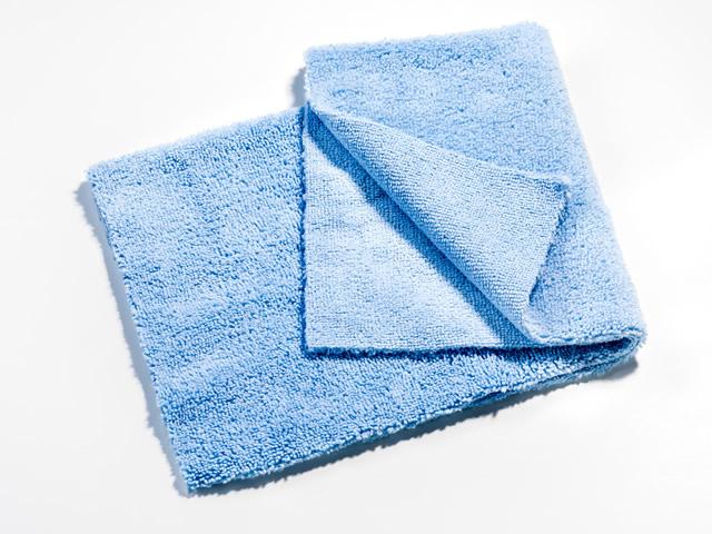 Mikrofasertuch Randlos, Frottee/Hochflor 40 x 40 cm | blau