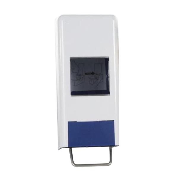 1er-System-Spender | weiß/blau | für 1000/2000 ml Softflaschen/Faltflaschen