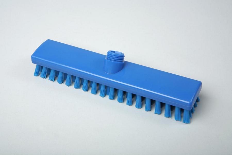 Hygiene - Schrubber mit Wasserdurchlauf, Außengewinde mit Innensechskant   30 cm blau    Temperaturbeständigkeit: - 20°C bis +134°C