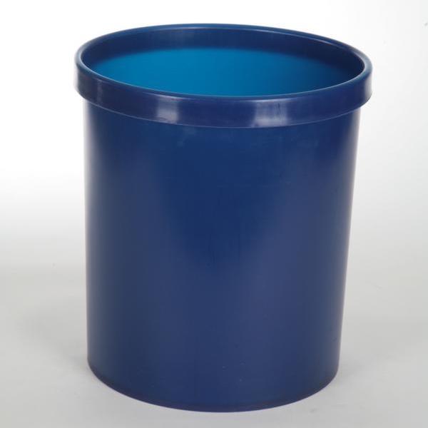 Abfallbehälter, Papierkorb Ø 30 cm rund, geschlossen | 18 Liter | Farben: blau, grau, silber, bordeaux, schwarz