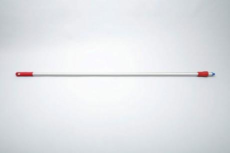 Hygiene - Aluminiumstiel, Standart 1,50 m, Ø 25 mm | rot  | für System Außengewinde mit Innensechskant