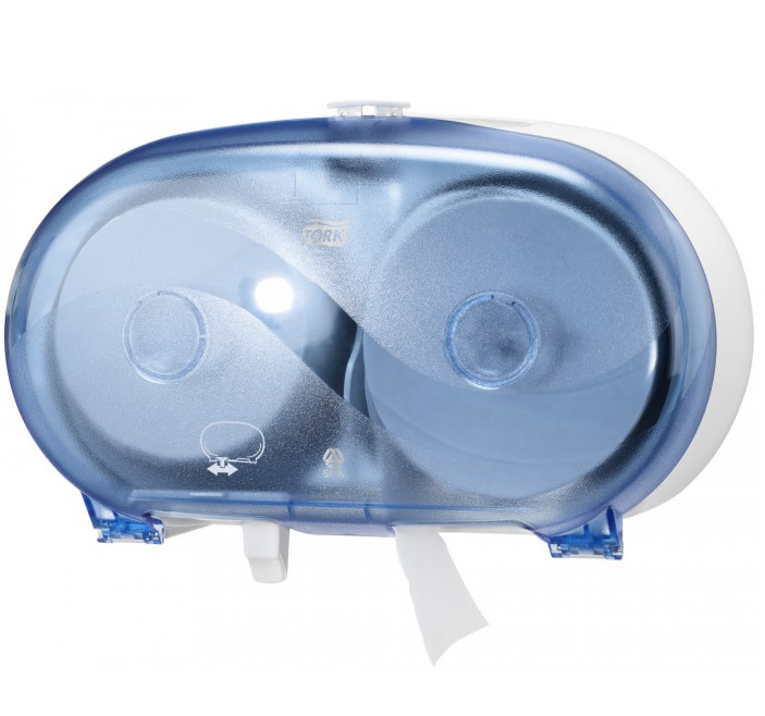 """Toilettenpapier-Rollen-Spender für 2 Rollen   blau    """"Tork Doppelrollenspender Midi T7"""""""