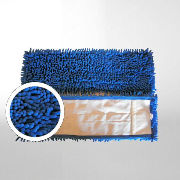 Chenille-Mopp 40 cm | Farbe: blau  | Material: Mikrofaser Aufnahme: Tasche