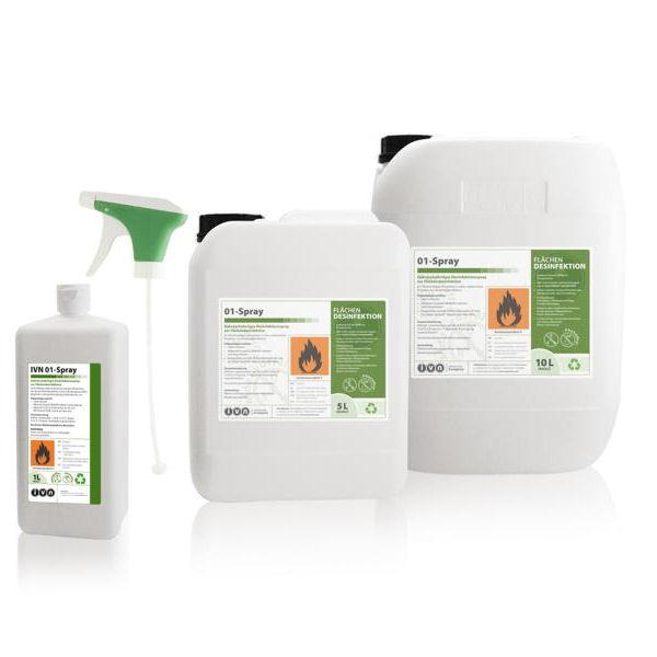 IVN 01-Spray | 5 Liter  | gebrauchsfertige alkoholische Flächendesinfektion für den medizinischen und gewerblichen Bereich, VAH-gelistet
