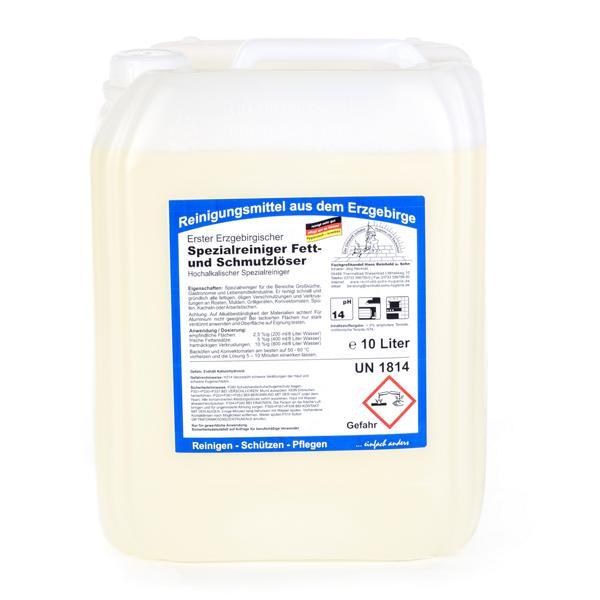 Erster Erzgebirgischer Spezialreiniger, Fett- und Schmutzlöser | 10 Liter