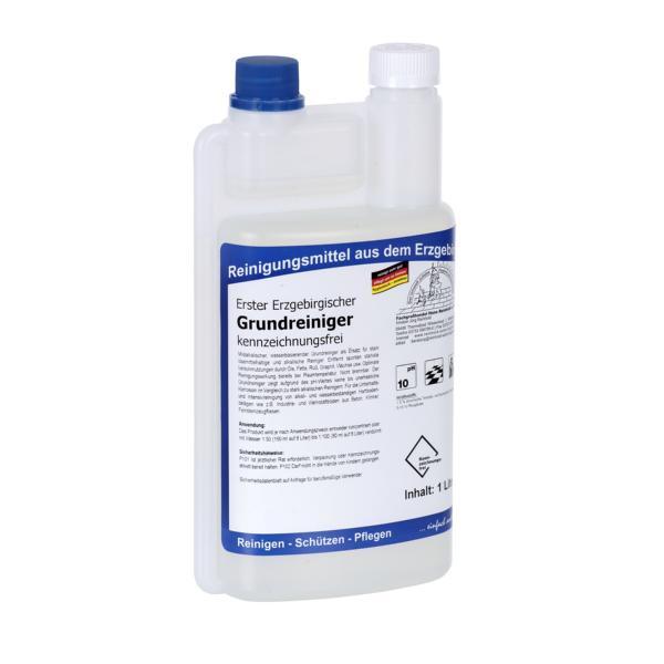 Erster Erzgebirgischer Grundreiniger kennzeichnungsfrei I 1 Liter Dosierflasche