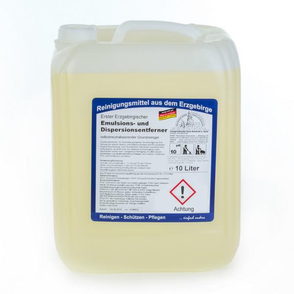 Erster Erzgebirgischer Emulsions- und Dispersionsentferner | 10 Liter | selbstneutralisierender Grundreiniger