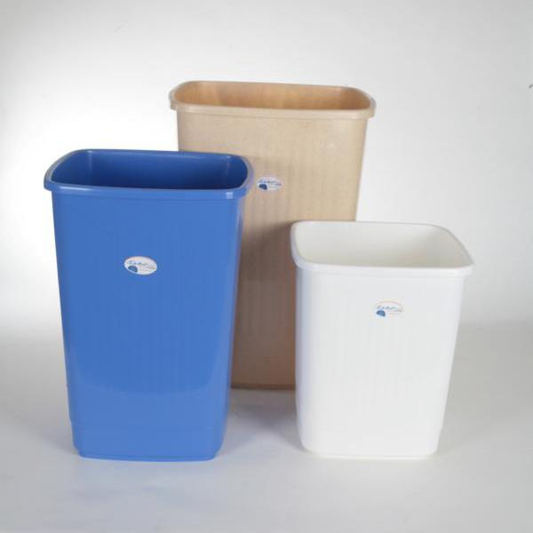 Abfallbehälter, Papierkorb 15 Liter, eckig, geschlossen | ohne Deckel, passender Schwingdeckel Artikel A70686