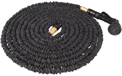 FLEXI PRO BLACK, der flexible und wachsende Wasserschlauch mit Sprühpistole | 22 m