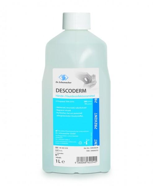 DESCODERM   1 Liter Spenderflasche    alkoholisches Hände- und Hautdesinfektionsmittel