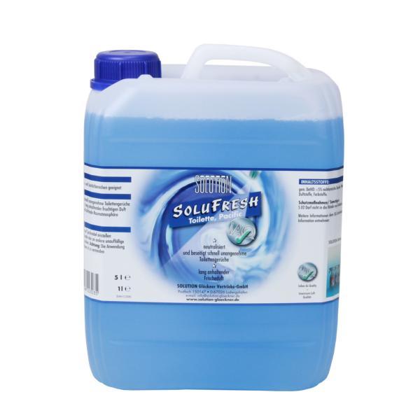 SOLUFRESH Toilette, Raumspray, Pacific blau, Caribic rot, Sunrise gelb | 5 Liter