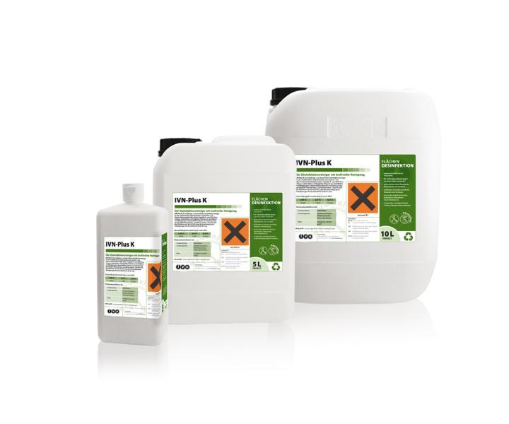 IVN Plus K | 10 Liter | Desinfektionsreiniger mit hoher Reinigungskraft, für Lebensmittelbereich oder schmutzbelastete medizinische Bereiche
