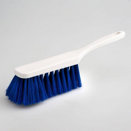 Hygiene - Handfeger 28 cm Borsten blau  | Körper: Kunststoff weiß, Borsten: Polyester PBT 0,25 blau