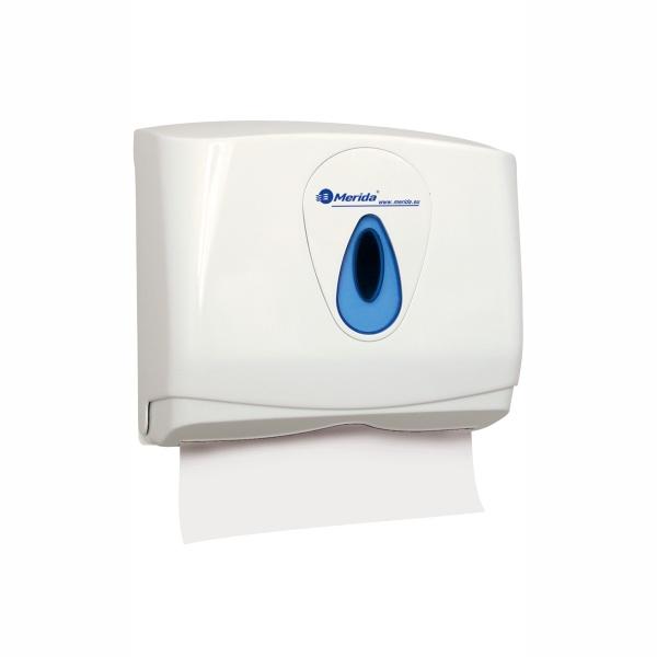 Handtuchspender Merida Top Mini | weiß/blau | abschließbar