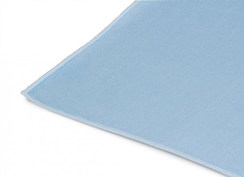 Mikrofasertuch Glas- und Geschirr-Reinigungstuch 50 x 70 cm | blau | mit feiner und gerippter Oberfläche, waschbar bis 90°C