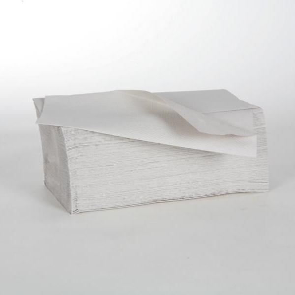 Papierhandtücher 1-lagig, 24,5 x 23 cm, V-Falz, Recycling natur, 41 g/m² | 5.000 Blatt/Karton