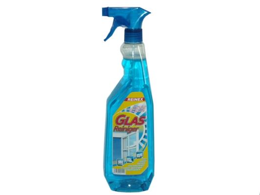 REINEX Glasreiniger mit Sprühpistole | 1 Liter  | reinigt Glasscheiben, Spiegel, Autoscheiben, Bildschirme, Fliesen