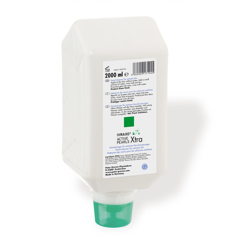 GREVEN® ACTIVE PEARLS® | 2 Liter Varioflasche  | Handreiniger mit schmutzbindenden weichen Rizinius-Wachsperlen
