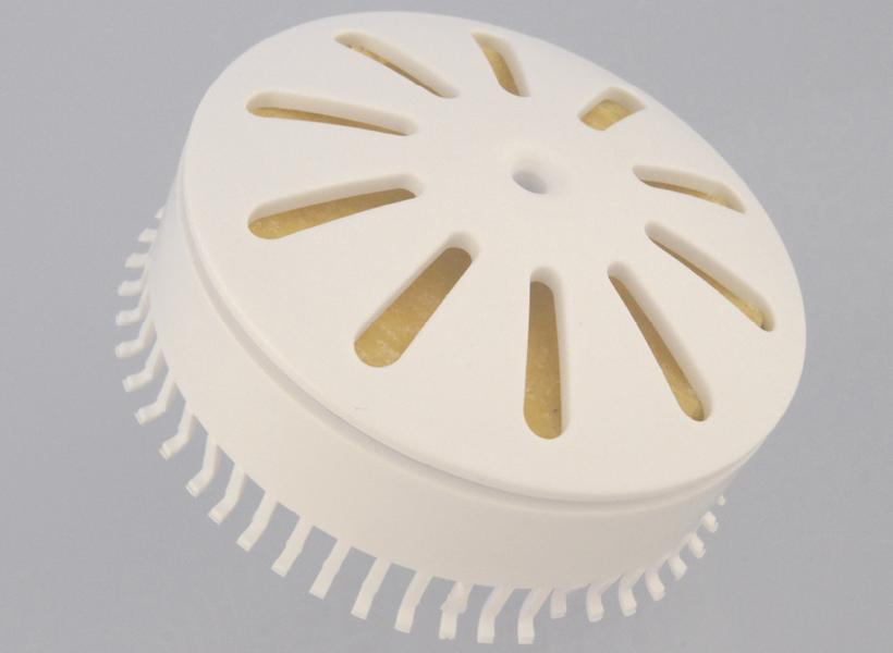 Sanicus BioBlock, Urinal-Dufteinsatz mit Haarsieb | weiß | verwendbar in allen wasserlosen Urinalen mit patentierten Whiffaway-Membranventilen