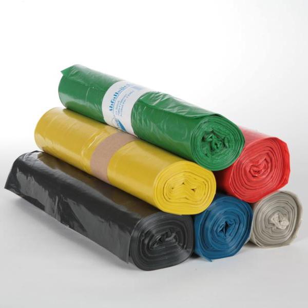 Müllsack  120 Liter, Typ100 schwarz LDPE Regenerat, 700 x 1100 mm, ca. 78µ | 15 Stück/Rolle