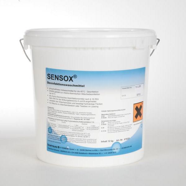 Sensox® | 7,5 kg (Produkt von 12 kg auf 7,5 kg geändert) | Desinfektionswaschmittel, bei 40 C° und 20 min Einwirkzeit, VAH-gelistet (RKI angemeldet)  | BIOZIDE SICHER VERWENDEN! Vor Gebrauch stets Kennzeichnung und Produktinformation lesen!