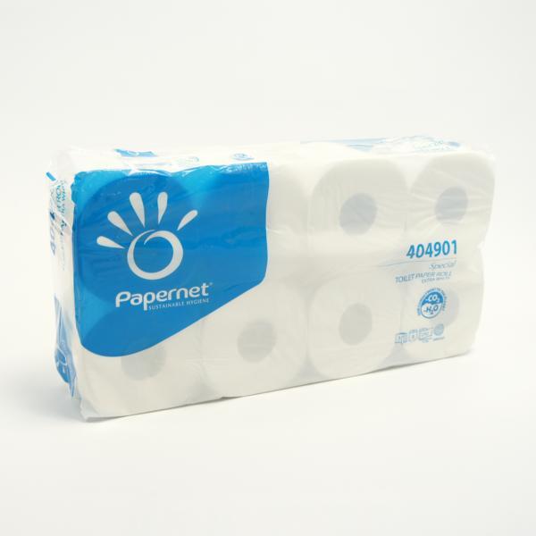 Toilettenpapier 3-lagig, 250 Blatt/Rolle, Recycling weiß | 72 Rollen/Sack