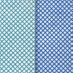 Bodentuch/Scheuertuch Supra 50 x 60 cm, Farben: blau/weiß, grün/weiß | sehr saugfähig, reinigt streifenfrei, fusselfrei, lange haltbar, kochfest 95 °C