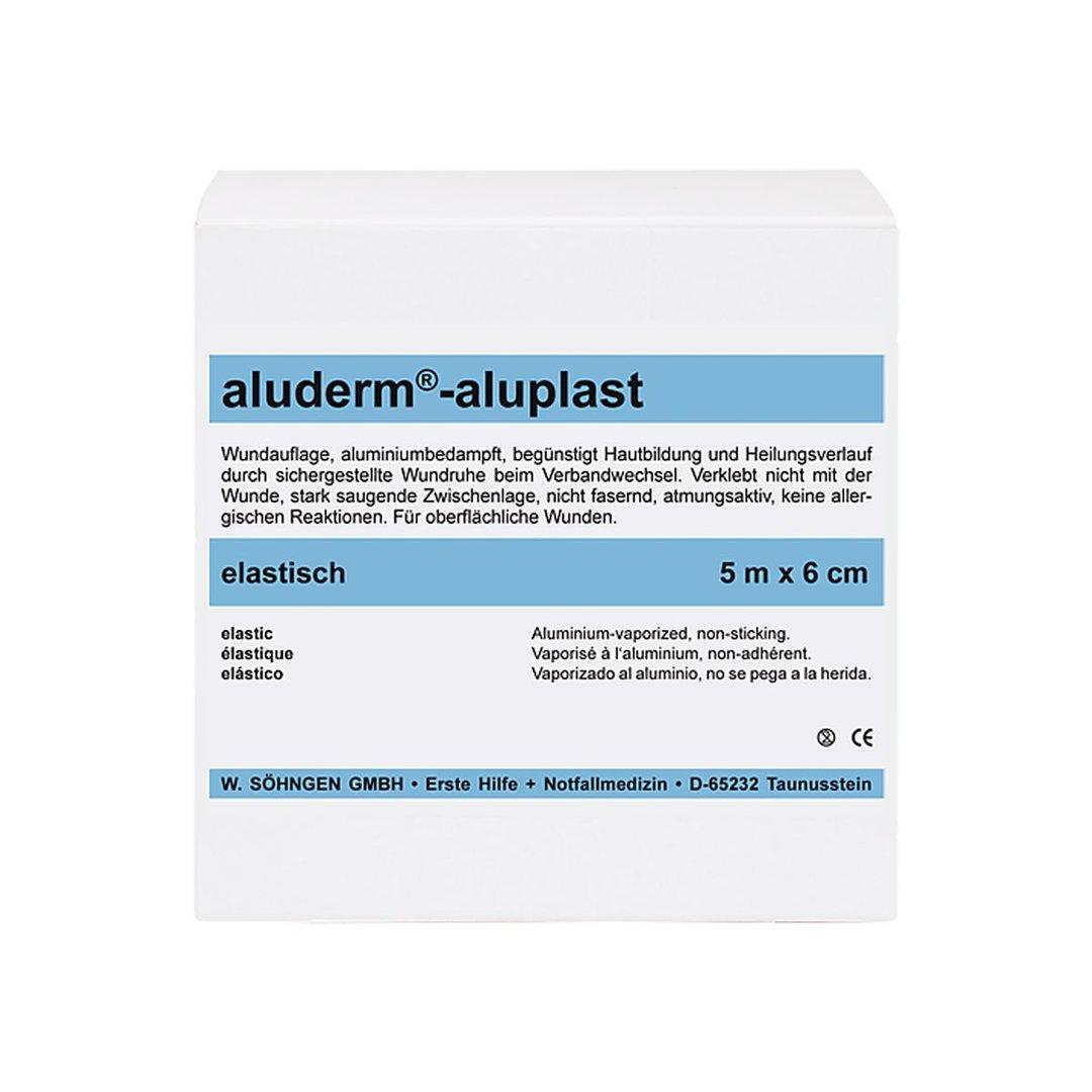 Söhngen® aluderm®-aluplast elastisches Pflaster aufgerollt | 5 m x 6 cm