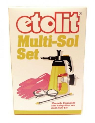 etolit® Multi-Sol-Set | 1,5-Liter-Drucksprühpumpe mit Verlängerung + Schutzbrille + Handschuh + Auslaufhahn (DIN 51)