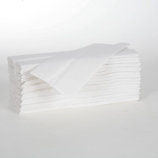 Papierhandtücher 2-lagig, 23 x 31 cm, Lagenfalz, hochweiß | 2880 Blatt/Karton