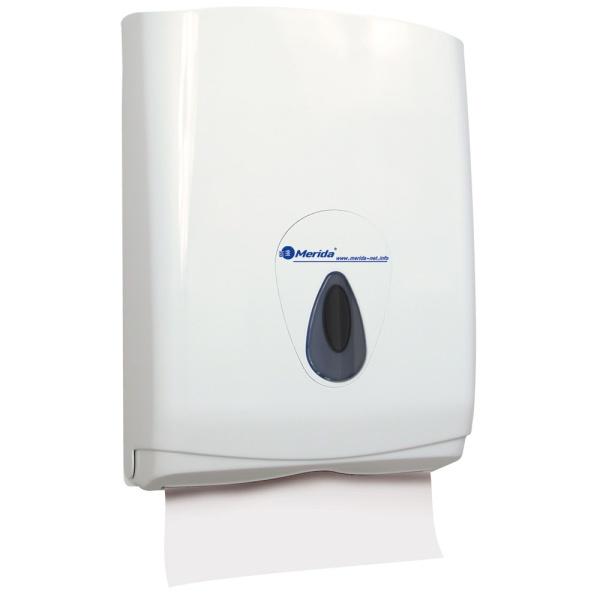 Handtuchspender Merida Top Maxi | weiß/grau | abschließbar