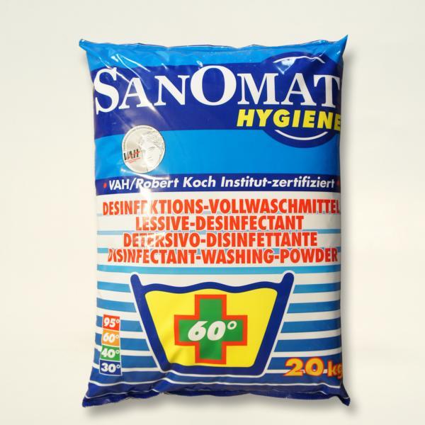 SANOMAT plus | 20 kg | Desinfektionswaschmittel, chemothermische Desinfektion: ab 60 °C, VAH-gelistet, RKI-gelistet