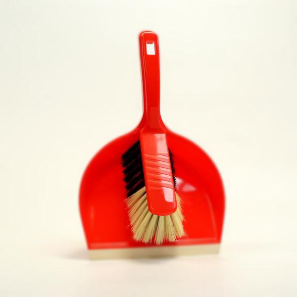 Handfeger 28 cm, Borsten: Propyl-Haar-Mischung, Körper: Kunststoff farbig  | passend für Kehrgarnitur 91161