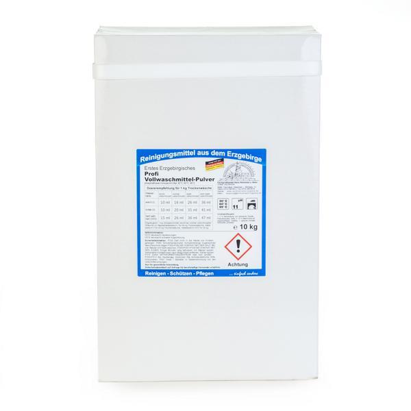 Erstes Erzgebirgisches Profi Vollwaschmittel-Pulver | 10 kg  | phosphatfreies Vollwaschmittel, 30°C, 60°C, 95°C