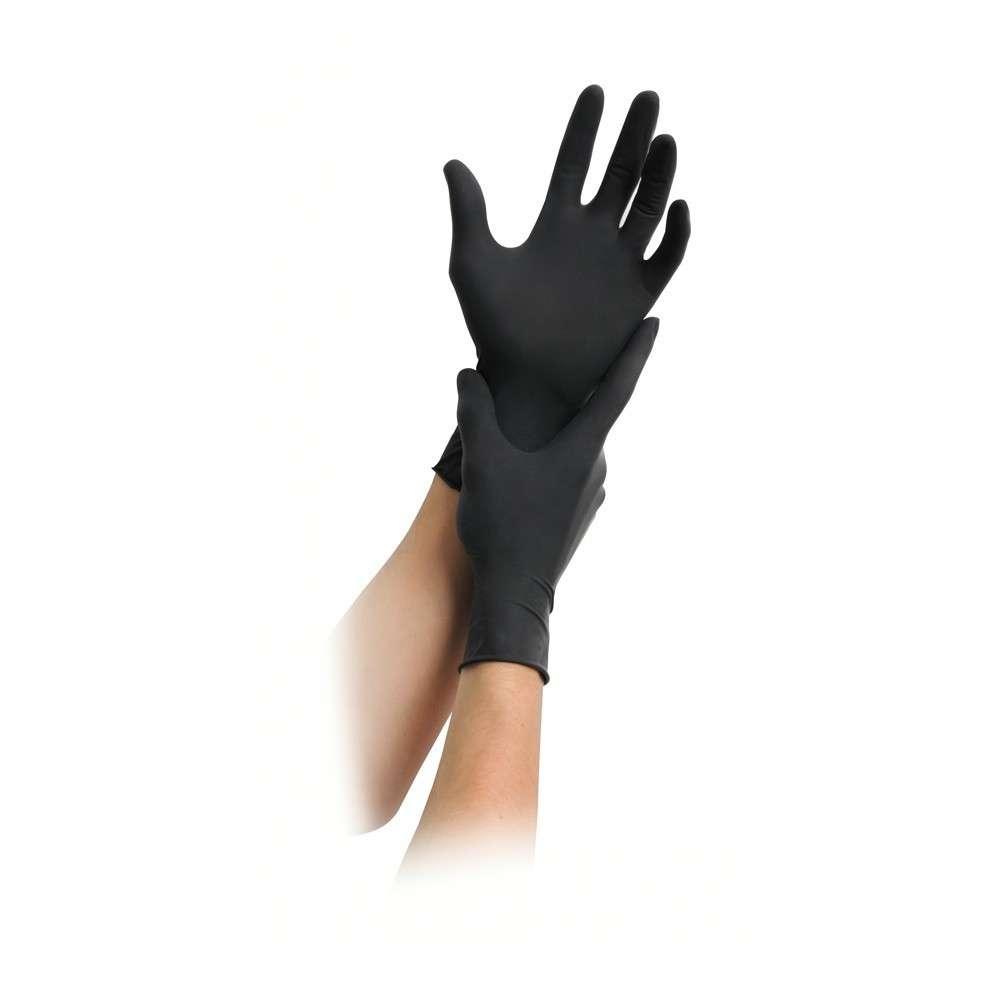 MaiMed® Black Nitril Einweghandschuhe   schwarz, puderfrei   100 Stück/Box