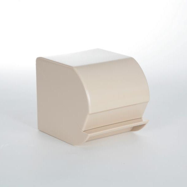Toilettenpapier-Rollen-Spender für 1 Rolle, geschlossen   Kunststoff weiß/blau/sand/grau