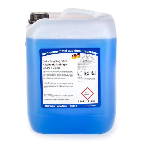 Erster Erzgebirgischer Alkohol-Duftreiniger Limone/Orange | 10 Liter | idealer Schnell- und Schonreiniger auf Alkoholbasis