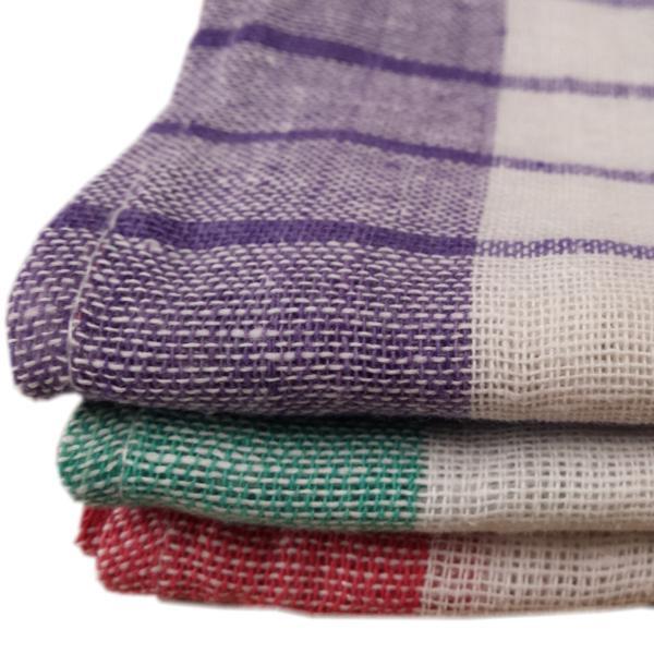 Geschirrtuch Baumwolle 50 x 70 cm, hell farbig karriert   ca. 143 g/m²   100 % Baumwolle, kochfest, chlorecht